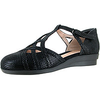 Lane Black Shiny Scale Print Suede