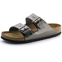 Arizona Soft Footbed Metallic Anthracite Leather
