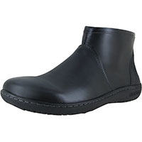 Bennington Black Leather Regular Width