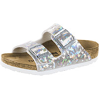 Kid's Arizona Hologram Silver Birko-Flor Narrow Width