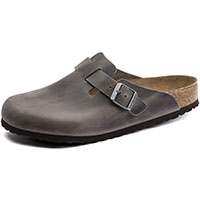Boston Soft Footbed Iron Oil Leather Regular Width