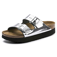 Arizona Platform Silver Leather Narrow Width