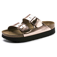 Arizona Platform Copper Leather Narrow Width