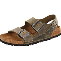 Milano Oiled Leather Faded Khaki Regular Width