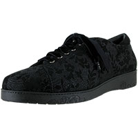 Black 3D Chantilly Suede