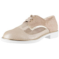 Flora Champagne Leather Combi