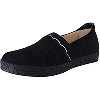 Reeve Black Suede/White Combi
