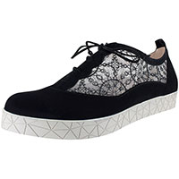Rosalie Black Suede/French Lace Mesh