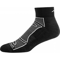 Men's 1/4 Sock Light Cushion Black/Gray