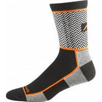Men's Herringbone Micro Crew Ultra-Light Black/Orange