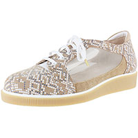 Cadence Biscotti Mosaic Print Suede