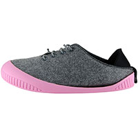 Fit Lace-Up Shoe Light Grey With Pink Removable Sole