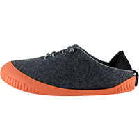 Fit Lace-Up Shoe Dark Grey With Salmon Removable Sole