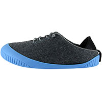 Fit Lace-Up Shoe Dark Grey With Sky Blue Removable Sole
