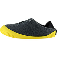 Fit Lace-Up Shoe Dark Grey With Yellow Removable Sole