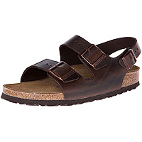 Milano Soft Footbed Leather Brown Amalfi Regular Width