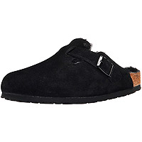 Boston Fur Black Suede Regular Width