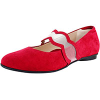 Iris Dark Red Suede