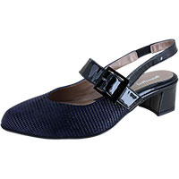 Maisy Navy Linear Suede Combi