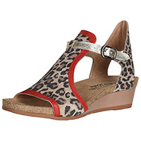 Fiona Cheetah Suede/Kiss Red Leather/Radiant Gold