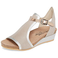 Fiona Beige Lizard/Silver Luster/Rose Gold Leather