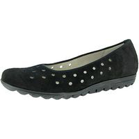 Hadya Perforated Ballet Black Nubuck