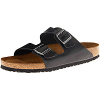 Arizona Soft Footbed Black Amalfi Leather Regular Width