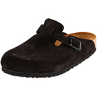 Boston Soft Footbed Black Suede Regular Width
