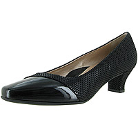Laverne Black Shiny Scale Print Suede