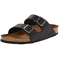 Arizona Soft Footbed Black Oiled Leather Regular Width