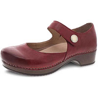 Beatrice Wine Burnished Nubuck