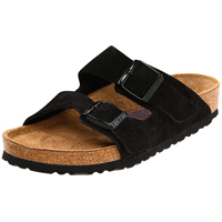 Arizona Soft Footbed Black Suede Narrow Width