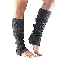 Leg Warmers Knee High Charcoal Grey