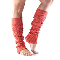 Leg Warmers Knee High Coral