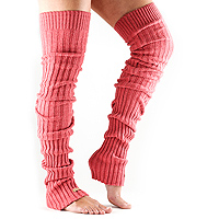 Leg Warmers Thigh High Coral