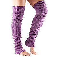 Leg Warmers Thigh High Plum