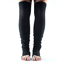 Leg Warmers Open Heel Black