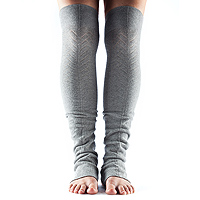 Leg Warmers Open Heel Heather Grey