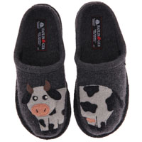 AR Cow Slipper Grey