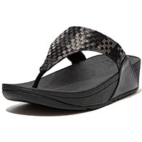 Lulu Silky Weave Toe-Post Black
