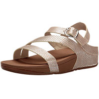 The Skinny Z-Cross Sandals Silver Snake