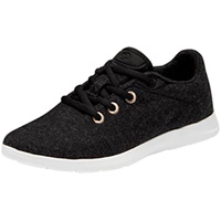 Men's Lace Up Black with White Sole