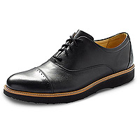 Men's Market Cap Black Leather