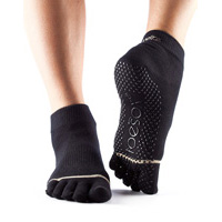 Grip Full Toe Ankle Black