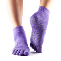 Grip Full Toe Ankle Light Purple