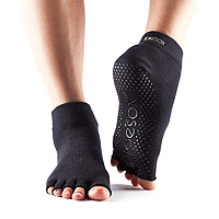 Grip Half Toe Ankle Black