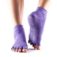 Grip Half Toe Ankle Light Purple