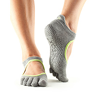 Grip Full Toe Bellarina Heather Grey/Limeaid