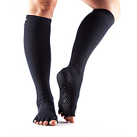 Grip Half Toe Knee High Scrunch Black