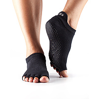 Grip Half Toe Low Rise Black
